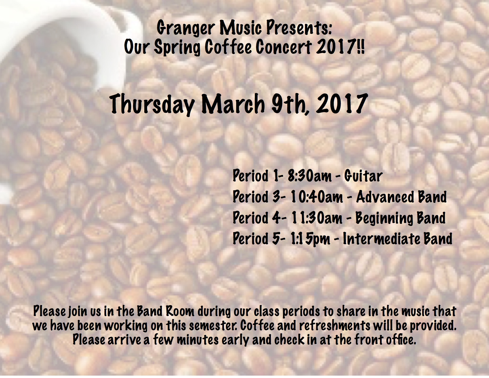 Coffee Concert.Spring 2017